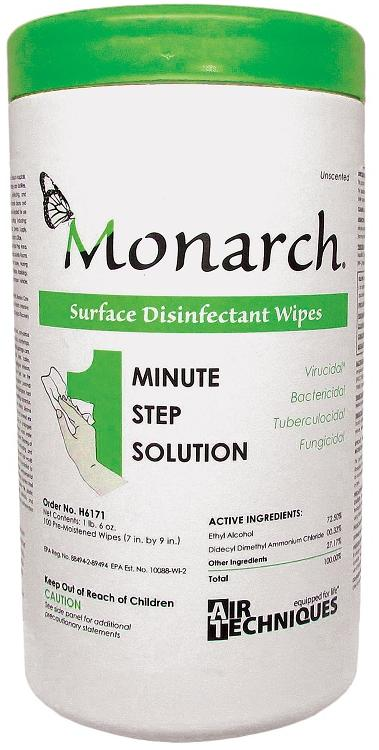 Monarch Surface Disinfectant Wipes (Air Techniques) Dental