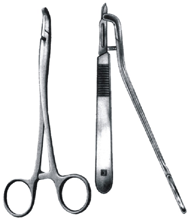 Scalpel Blade Removing Forceps
