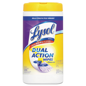 Image for Lysol Dual Action Disinfecting Wipes