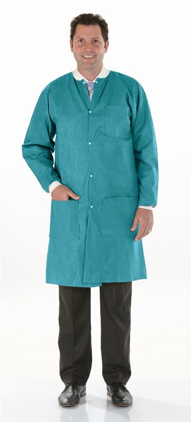 Details about  /Armor Crest Safety Protective Clothing Microporous Labcoat Elastic Wrist Size XL