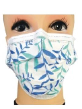 Image for N'sure Plus+ Pattern Face Masks - Blue Leaves