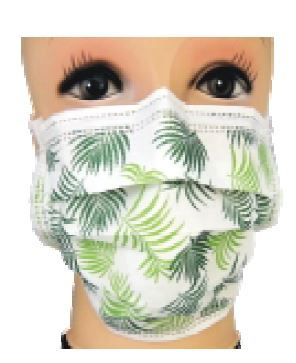 Image for N'sure Plus+ Pattern Face Masks - Green Leaves