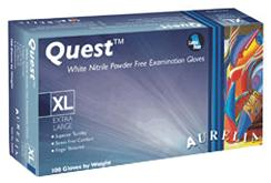 Image for Quest™ White Nitrile Gloves