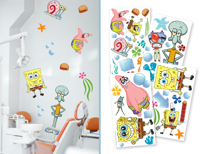 SPONGEBOB WALL DECALS Sherman Specialty Pearson Dental Supplies - Spongebob room decals