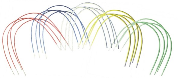 Pt Coated/colored Niti Arch Wires, Rectangular