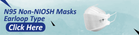 N95 Non NIOSH Masks Earloop Style