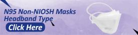 N95 Non NIOSH Masks Headband Style